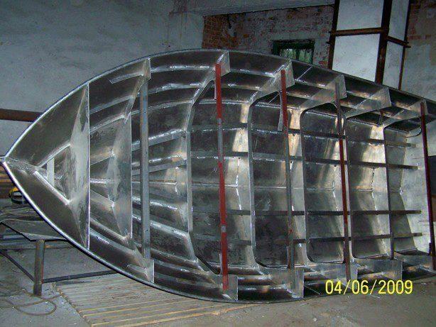 раскрой лодки из алюминия